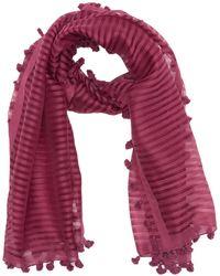 Eileen Fisher Handloomed Organic Cotton Silk Stripe Scarf - Purple