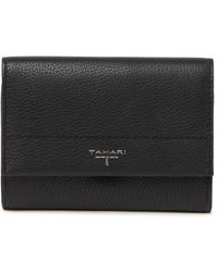T Tahari Sienna Leather Flap Indexer Leather Wallet - Multicolor