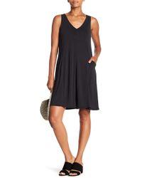 Spense - V-neck Solid Dress - Lyst