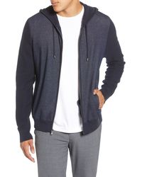 Zachary Prell Collace Zip-up Hoodie - Blue