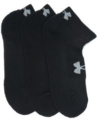 Under Armour Heatgear Quarter Cut Socks - Black