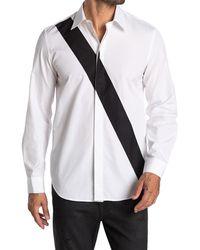Helmut Lang Colorblock Slash Shirt - White
