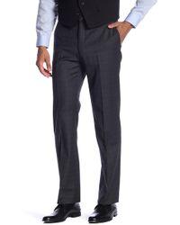 "Tommy Hilfiger Tyler Plaid Print Modern Fit Stretch Suit Separates Pants - 30-34"" Inseam - Blue"