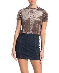 Cotton On Velvet Short Sleeve T-shirt - Blue