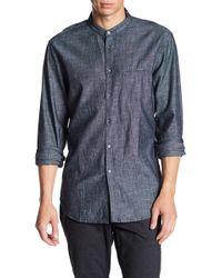 John Varvatos | Double Layered Collar Slim Fit Shirt | Lyst