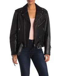Nili Lotan Rebel Leather Moto Jacket - Black