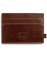 Boconi Weekend Leather Id Wallet In Cognac At Nordstrom Rack - Brown