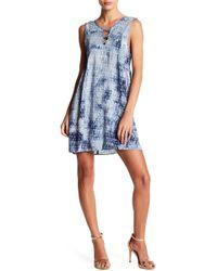 BCBGeneration - Tie-dye Lattice A-line Dress - Lyst