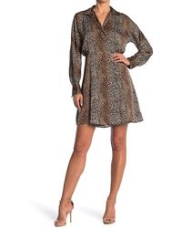 Equipment Harmon Leopard Print Shirt Dress - Multicolor