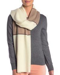 Portolano Colorblock Metallic Stripe Cashmere Scarf - Multicolor