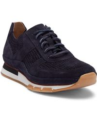 Vince - Larson Perforated Suede Sneaker - Lyst