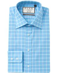 Thomas Pink - Horseforth Check Slim Fit Dress Shirt - Lyst