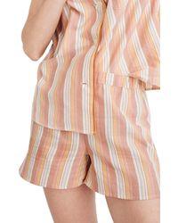 Madewell Bedtime Rainbow Stripe Pajama Shorts - Multicolor