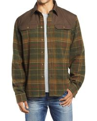 Fjallraven Granit Plaid Button-up Flannel Shirt - Green