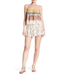 Raga - Golden Hour Ruffle Mini Skirt - Lyst