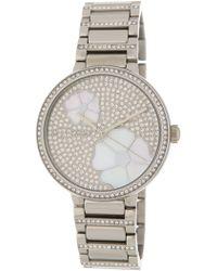 MICHAEL Michael Kors Women's Courtney Crystal Pave Bracelet Watch, 36mm - Metallic
