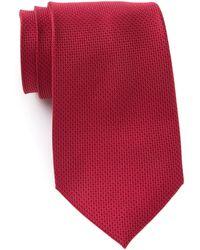 Michael Kors Sorento Solid Silk Tie - Red