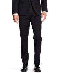 Ben Sherman Trim Fit Wool Blend Suit Pants - Black