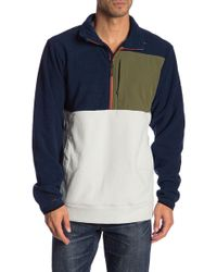 Billabong - Boundary Colorblock Mock Neck Partial Zip Pullover - Lyst