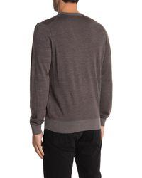 Thomas Dean Crew Neck Merino Wool Sweater - Brown