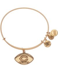 ALEX AND ANI - Nfl Chicago Bears Football Adjustable Wire Bangle - Lyst