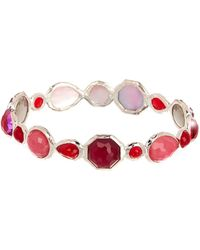 Ippolita - Sterling Silver Rock Candy Wonderland Bezel Set Semi-precious Stone Bangle - Lyst