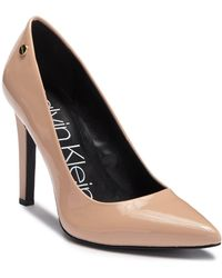 5ab5545836a Calvin Klein - Brady Patent Leather Pointed-toe Pump - Lyst