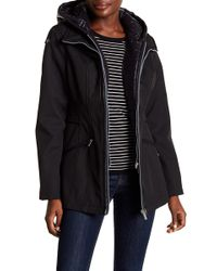French Connection - Quilted Bib & Hooded Coat - Lyst