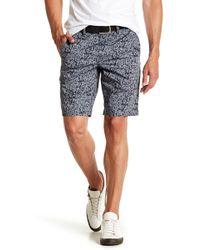 John Varvatos - Flat Iron Print Casual Shorts - Lyst