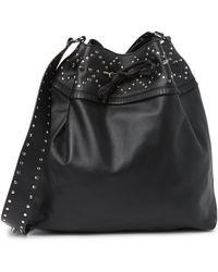 RED Valentino Leather Shoulder Bag In Nero At Nordstrom Rack - Black