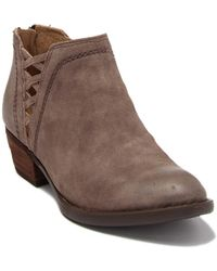 Born Waterville Woven Leather Ankle Boot - Brown