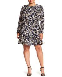 REBEL WILSON X ANGELS - Long Sleeve Ruffle Dress (plus Size) - Lyst