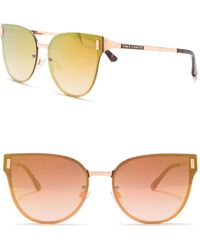 Vince Camuto - Metal Backframe Butterfly Sunglasses - Lyst