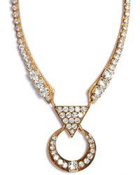 Sandy Hyun - Cutout Crystal Necklace - Lyst