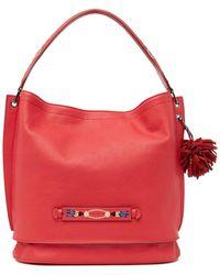 Longchamp Lc 3d Shoulder Hobo Bag - Red