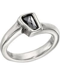 Uno De 50 Glamatic Swarovski Stone Solitaire Ring - Metallic