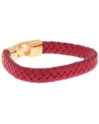 English Laundry Leather Braided Bracelet - Red