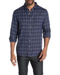 7 Diamonds Back To Me Plaid Flannel Shirt - Blue