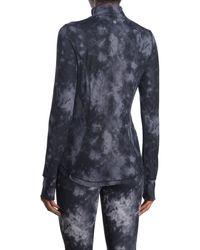 90 Degrees Nude Tech Printed Full Zip Jacket - Blue