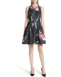 Ted Baker - Sarahe Floral Fit & Flare Dress - Lyst