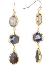 594fa5df01239 Swarovski Jet Hematite Crystal Lunar Earrings in Black - Lyst