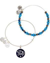 ALEX AND ANI - Peace Bangle Bracelets - 2-piece Set - Lyst