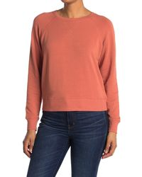 Madewell Crew Neck Raglan Sleeve Sweatshirt - Orange