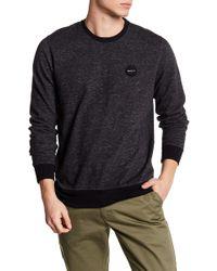 RVCA - Motor Speckle Fleece Sweatshirt - Lyst