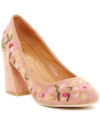 Elegant Footwear - Kasia Embroidered Pump - Lyst