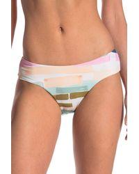The Bikini Lab Paint Skimpy Hipster Bikini Bottoms - Blue