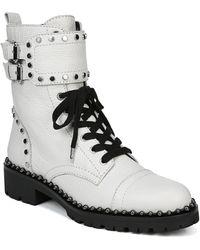 Sam Edelman Jennifer Studded Combat Boot - White