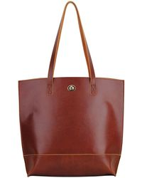 Most Wanted Usa Classic Carryall Leather Tote Bag - Red