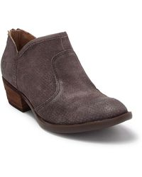 Born Ven Perforated Suede Bootie - Grey