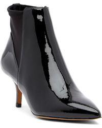 Donald J Pliner - Feris Pointed Toe Patent Leather Bootie - Lyst